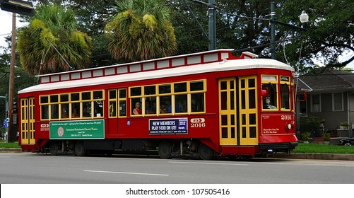 NEW ORLEANS, LOUISIANA-JULY 12:  New Orleans Streetcar Line, July 12, 2012.  Newly revamped after Hurricane Katrina in 2005, the New Orleans Streetcar line began electric operation in 1893.