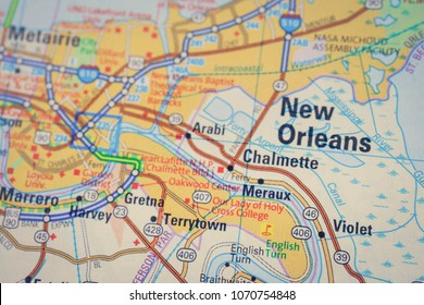 new orleans map Images, Stock Photos & Vectors | Shutterstock