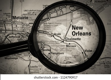 New Orleans map background