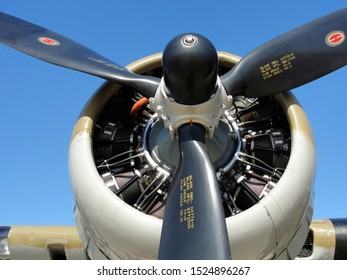 """New Orleans - March 25, 2010: An engine on the World War II era Flying Fortress B-17 bomber """"Nine-o-Nine"""" prior to its deadly crash"""
