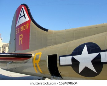 """New Orleans - March 25, 2010: Tail door on the World War II era Flying Fortress B-17 bomber """"Nine-O-Nine"""" prior to its deadly crash"""