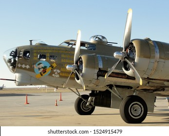 """New Orleans - March 25, 2010: World War II era Flying Fortress B-17 bomber """"Nine-O-Nine"""" prior to its deadly crash"""