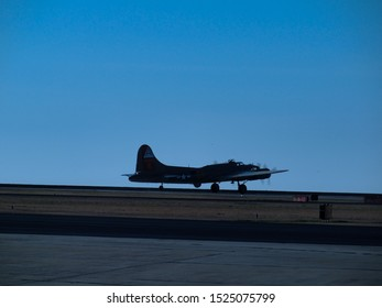 """New Orleans - March 25, 2010: World War II era Flying Fortress B-17 bomber """"Nine-O-Nine"""" lifts off runway prior to its deadly crash"""