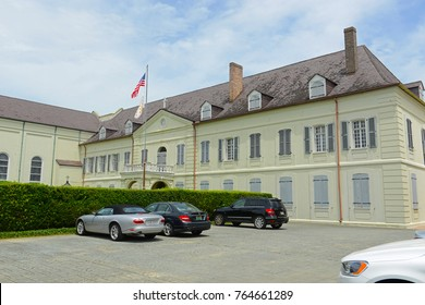 NEW ORLEANS - MAY. 29, 2017: Old Ursuline Convent on 1100 Chartres Street in French Quarter in New Orleans, Louisiana, USA. This building, built in 1752, now the National Register of Historic Places.