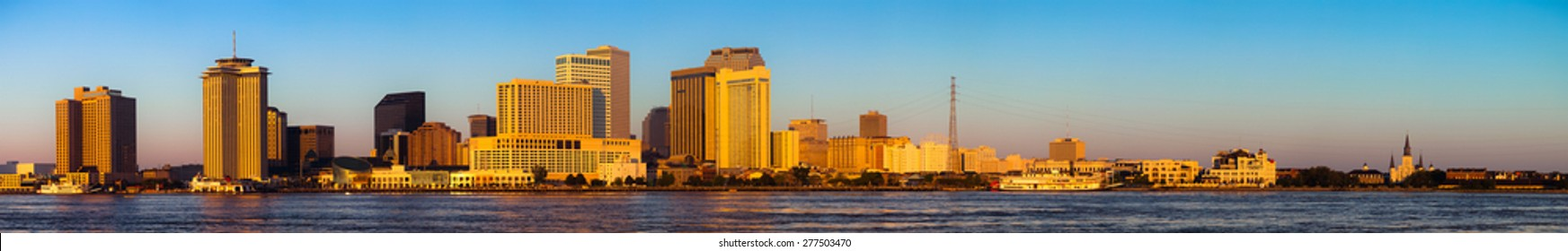 New Orleans Panoramic View of the city and the skyline