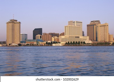 New Orleans skyline, seen from the Mississippi River
