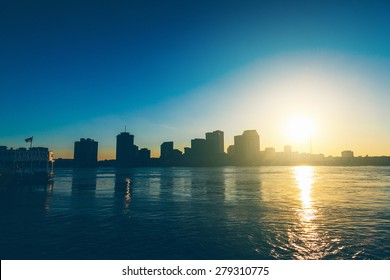 New Orleans Skyline at Sunsset