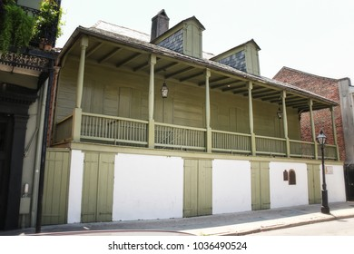 NEW ORLEANS / UNITED STATES - JULY 7, 2011: Madame John's Legacy, a historic building on Dumaine Street in the French Quarter of New Orleans, Louisiana, built in 1788.