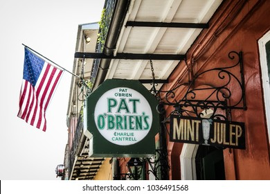 NEW ORLEANS / UNITED STATES - JULY 7, 2011: Pat O'Brien's in New Orleans, famous for their mint juleps.