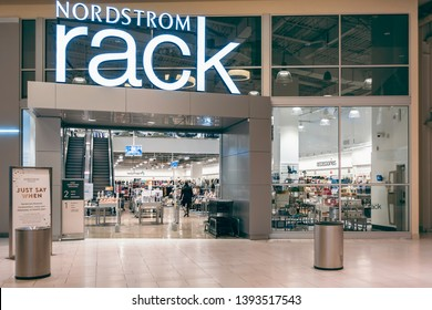 New Orleans, USA - Dec 10, 2017: Storefront view of the Nordstrom Rack department store at the Outlet Collection Shopping Mall.