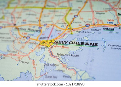 New Orleans In Usa Map.Map Of New Orleans Stock Photos Images Photography Shutterstock