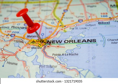 New Orleans USA map background