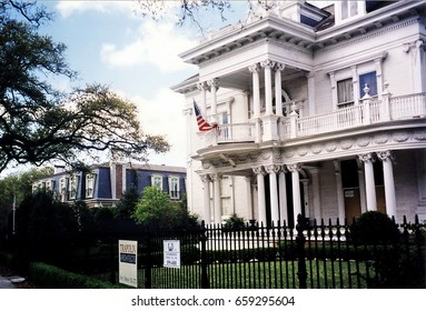 New Orleans, USA - March, 2002 : The beautiful house.