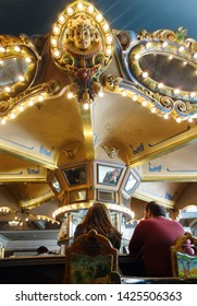 NEW ORLEANS,LA/USA -03-17-2019: The famous rotating bar of the Monteleone Hotel in New Orleans French Quarter