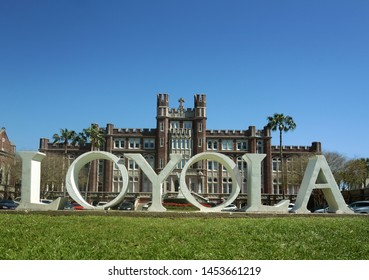 NEW ORLEANS,LA/USA -03-22-2019: Campus of Loyola University in New Orleans