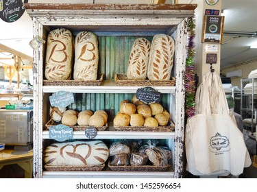 NEW ORLEANS,LA/USA -03-24-2019: Fresh baked bread at Breads On Oak, a vegan and vegetarian bakery and restaurant in New Orleans