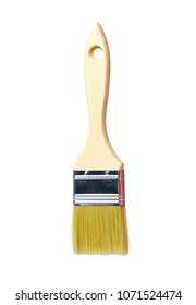 New paint brush isolated on white background