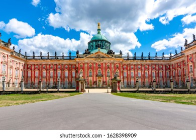 New Palace (Neues Palais) facade in Potsdam, Germany