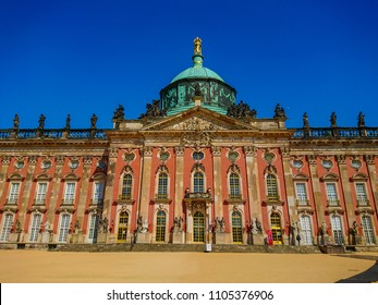 New Palace Potsdam called Neues Palais located in Park Sanssouci - POTSDAM / GERMANY - MAY 22, 2018