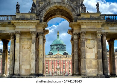 The New Palace in Sanssouci Park located in Potsdam, Germany.