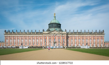 New Palace underconstruction with beautiful sky, Potsdam, Germany, 28th April 2018