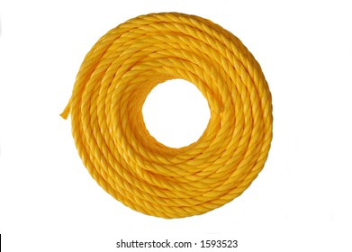 A new perfect coil of yellow rope
