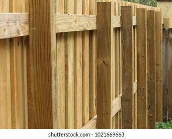 New Perimeter Wood Fence