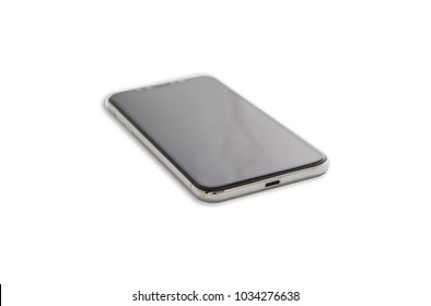 new phone isolated on white background