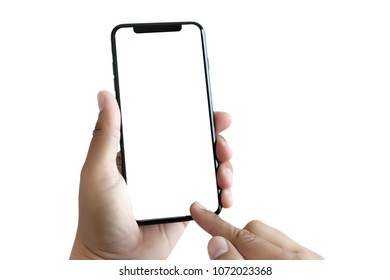 new phone Technology smartphone with blank screen and modern frame less design