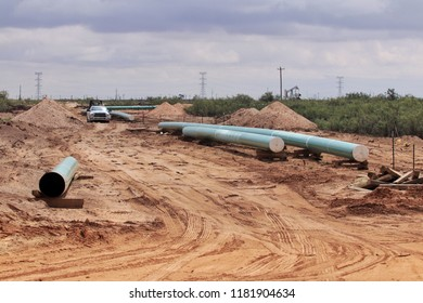 New pipeline construction in the Permian Basin