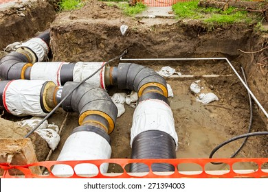 New pipeline in the process of building under construction