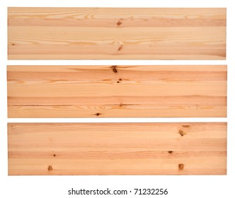 New planks isolated on white