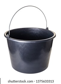 new plastic bucket on a white isolated background