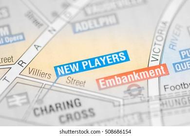 New Players Cinema. London, UK map.
