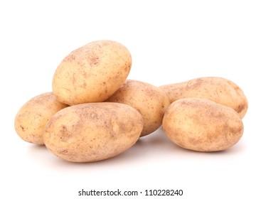 New potato isolated on white background cutout