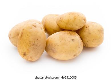 New potato isolated on white background.