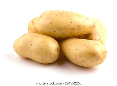 New potatoes isolated on white background cutout