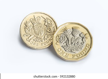 New pound coin with the old design, the design is to be introduced in March 2017