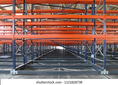 New Powered Mobile Shelves in Distribution Warehouse