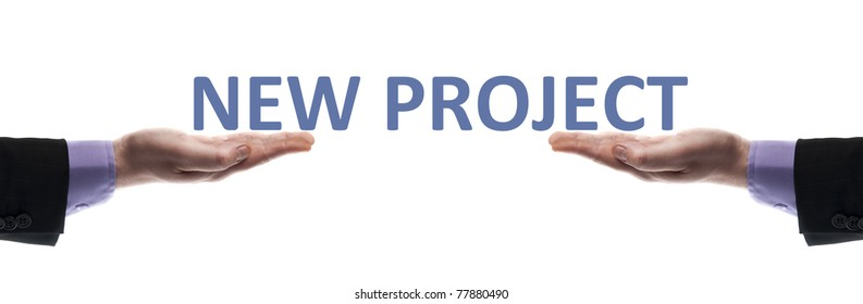 New project message in male hands