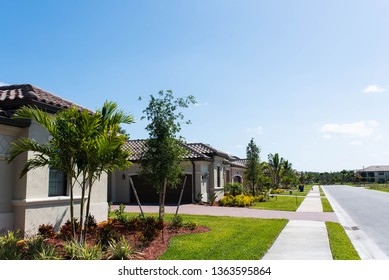 New properties being constructed in a South Florida luxury golf community