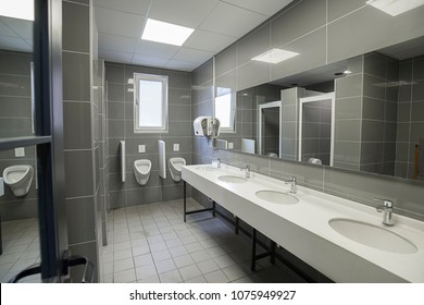 New public restroom of a shopping mall.