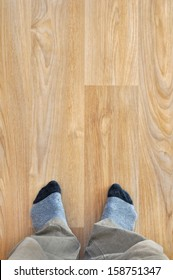 New PVC floor at home,  wooden texture
