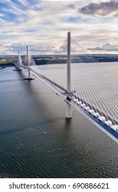 The new Queensferry Crossing bridge over the Firth of Forth. Edinburgh, Scotland, UK