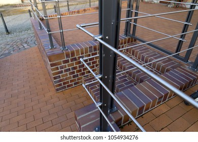 new railing made of stainless steel