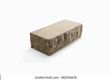 new red brick isolated on white background