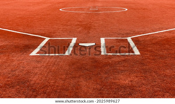 a new red colored artificial turf baseball sports field ball diamond surface