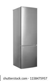New refrigerator isolated on white background