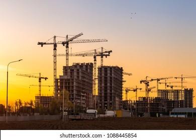 New residental houses under construction