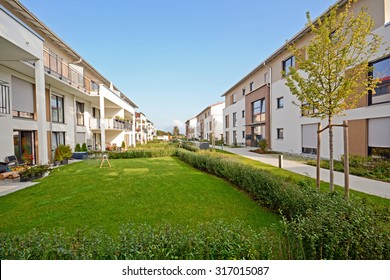 New residential buildings with outdoor facilities